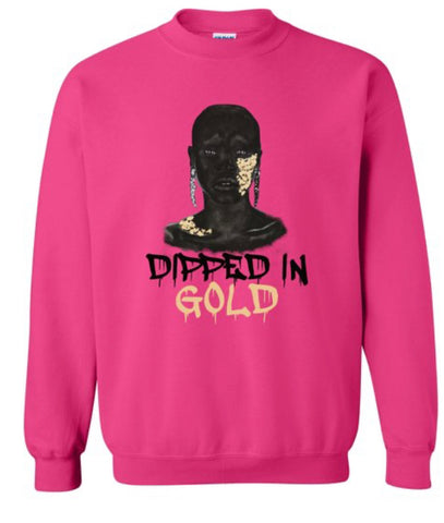 Pink Crew Neck With Side Zipper