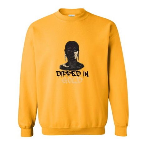 Dipped in Gold_Crew neck (yellow)/ Side Zipper