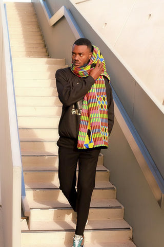 Yellow African Patterned Scarf