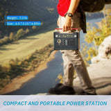 ROCKPALS 300W Portable Battery Generator and ROCKPALS 80W Solar Panel Combo