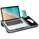 LapGear Home Office Lap Desk with Device Ledge, Mouse Pad, and Phone Holder