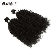 "Load image into Gallery viewer, Noble 24""inch 2pcs/pack Curly Hair Weaving Kinky Curly Hair Extensions Weft Synthetic Hair Weave Bundles For Black Women - My Little Decors.com"