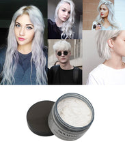 Load image into Gallery viewer, Mofajang Color Hair Wax Styling Pomade Silver Grandma Grey Disposable Natural Hair Strong Gel Cream Hair Dye for Women Men 120g - My Little Decors.com