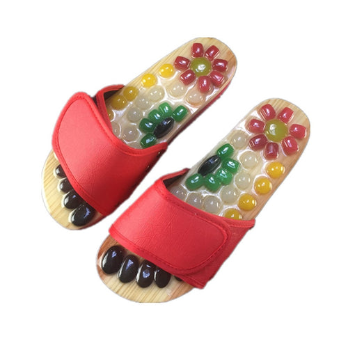 Massage Shoes Mens Slides Cobblestone Accupressure Foot Indoor Chinese Medicine Pedicure Acupoint Healthcare Flat Slippers - My Little Decors.com