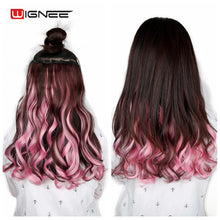 Load image into Gallery viewer, Wignee Colorful For Women 5 Clips In Hair Pieces High Temperature Heat Resistant Synthetic Fiber Hair Bundles Hair Extensions - My Little Decors.com