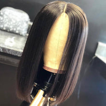 Load image into Gallery viewer, Lace Front Human Hair Bob Wigs Brazilian Short Straight Closure Wig Natural Pre Plucked Glueless Remy Hair for Black Women long - My Little Decors.com