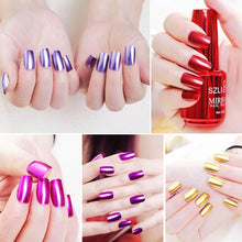 Load image into Gallery viewer, Mirror Metal Color Nail Polish Metallic Magical Effect Nailpolish Steel Silver Varnish Stainless Chrome Art Uv Nail 18ml En Z5V1 - My Little Decors.com