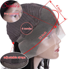 Load image into Gallery viewer, Sophie's Lace Front Human Hair Wigs For Black Women Brazilian Straight Lace Front Wig 13*4 Bob Lace Front Wigs Pre Plucked Remy - My Little Decors.com