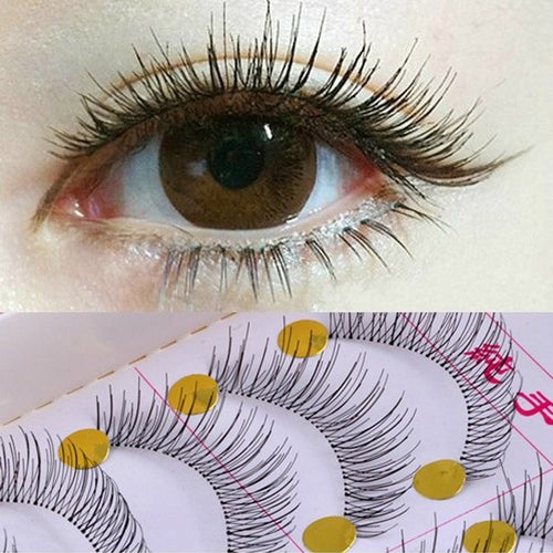10Pair False Eyelashes Natural Reusable Sparse Cross Long Eyelashes Artificial Fake Eye Lashes Makeup Fake Eye Lashes Extensions - My Little Decors.com
