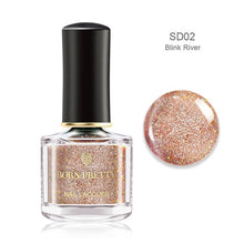 Load image into Gallery viewer, BORN PRETTY Nail Polish Pink Glittering Shimmer Laser Nail Art Varnish Color DIY Manicuring Design 6ml Nail Polish - My Little Decors.com