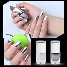 Load image into Gallery viewer, 7ml Metalic Nail Polish Silver nagellak Nail Art Varnish vernis ongle Silver Mirror Chrome Nail Polish Nail Art Tools TSLM1 - My Little Decors.com