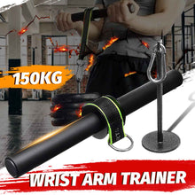 Load image into Gallery viewer, Forearm Strength Trainer Wrist Hand Grip Hand Strength Exerciser Weight Lifting Rope Waist Roller Equipment Gym Fitness Workout - My Little Decors.com