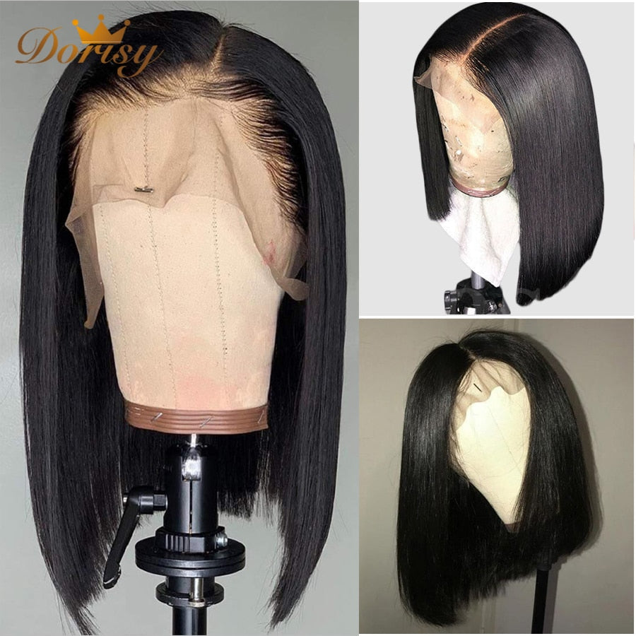 Bob Human Hair Wigs Short Human hair Wigs Lace Front Wigs For Women 13×5 Remy Hair Lace Front Human Hair Wigs Pre Plucked Hair - My Little Decors.com
