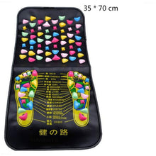 Load image into Gallery viewer, Reflexology Walk Stone Road Foot Massage Mat Acupressure Relax Massage Pad Foot Spa Leg Pain Relief Healthcare Walk Massager Mat - My Little Decors.com