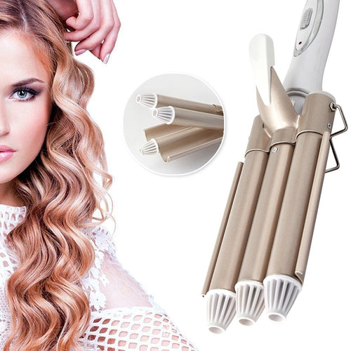 Professional Hair Tools Curling Iron Ceramic Triple Barrel Hair Styler Hair Waver Styling Tools Hair Curlers Electric Curling - My Little Decors.com