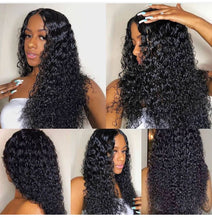 Load image into Gallery viewer, Deep Wave Lace Front Wig Human Hair Wigs Curly Short Bob Brazilian For Black Women Hd Full Frontal Water Wave Lace Front Wig - My Little Decors.com