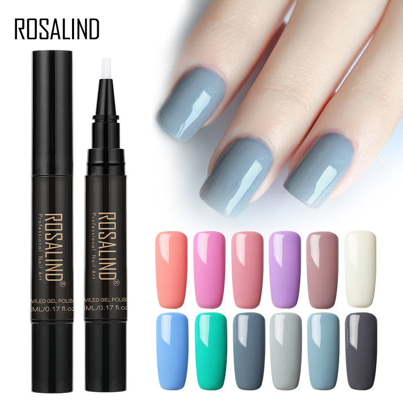 Newest 3 In 1 Gel Nail Varnish Pen Glitter One Step Nail Art Gel Polish Hybrid Gel Nail Polish Shiny Nail Gel For Nail Art Tools - My Little Decors.com