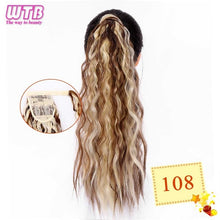 Load image into Gallery viewer, WTB 50cm Corn Curly Long Ponytail Synthetic Hairpiece Wrap Around on Clip Hair Extensions for Women Hair - My Little Decors.com