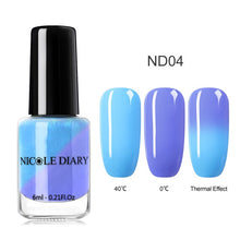 Load image into Gallery viewer, NICOLE DIARY 6ml Pearl Rainbow Nail Polish Peel off Water Based Nail Art Varnish Nail Art Decoration Polish Nail Art Decoration - My Little Decors.com