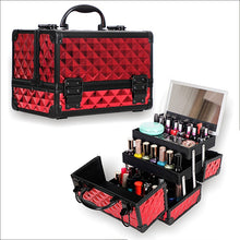 Load image into Gallery viewer, HHYUKIMI High Quality Aluminum alloy frame Makeup Organizer Women Cosmetic Case/Bag With Mirror Travel Large Capacity Suitcases - My Little Decors.com
