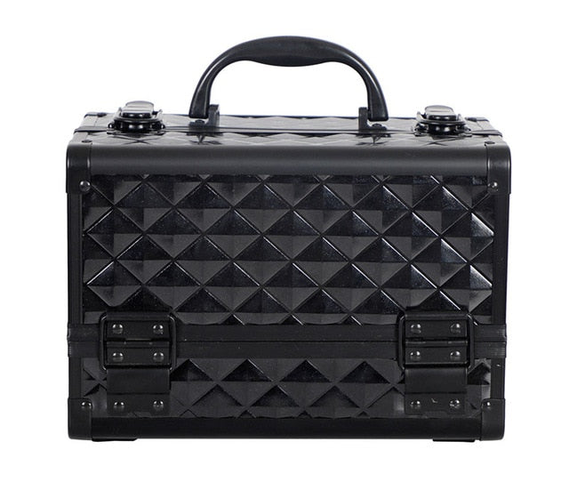 HHYUKIMI High Quality Aluminum alloy frame Makeup Organizer Women Cosmetic Case/Bag With Mirror Travel Large Capacity Suitcases - My Little Decors.com