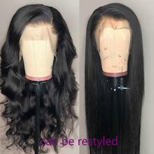 Load image into Gallery viewer, Cranberry Straight Lace Front Human Hair Wigs Pre Plucked Hairline 4X4 Lace Closure Wig 360 Lace Frontal Wig Brazilian Remy Wigs - My Little Decors.com