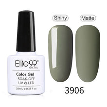 Load image into Gallery viewer, Elite99 Amber Matte Gel Varnish Nail Polish Set Hybrid All For Manicure 10ML Avocado Colors UV Macchiato Nail Art Primer - My Little Decors.com
