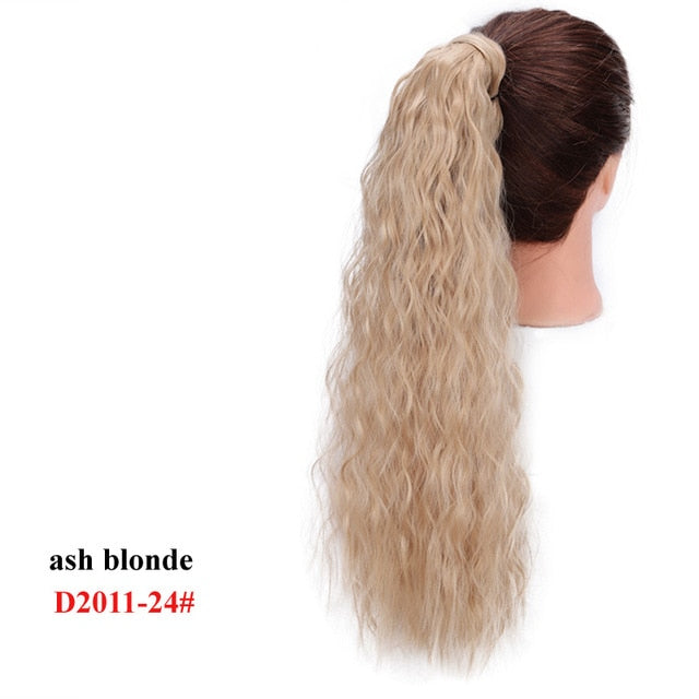 AISI BEAUTY Kinky Curly Ponytail Extension Synthetic Wrap Around Magic Paste Ponytail Corn Clip in Hair Extensions For Women - My Little Decors.com