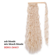 Load image into Gallery viewer, AISI BEAUTY Kinky Curly Ponytail Extension Synthetic Wrap Around Magic Paste Ponytail Corn Clip in Hair Extensions For Women - My Little Decors.com