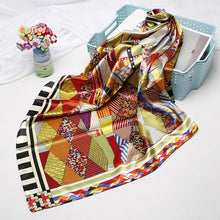 Load image into Gallery viewer, Fashion Hijab Scarf For Women Print Silk Satin Hair Scarfs Kerchief 90*90cm Square Neckerchief Headband Scarves For Ladies - My Little Decors.com