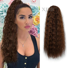 Load image into Gallery viewer, Afro Puff Long Kinky Curly Drawstring Ponytail for Women 22 inch Clip in Wavy Natural Pony Tail Hair Extensions - My Little Decors.com