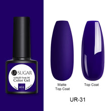 Load image into Gallery viewer, UR SUGAR 7.5ml Matte Nail Gel Polish Purple Series Hybrid Varnish Nail Art Semi Permanent UV Gel Varnish Soak Off Matte Top Coat - My Little Decors.com