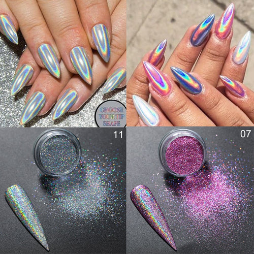 Silver Pink Nail Glitter - My Little Decors.com