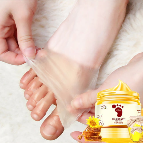Honey Milk Foot Wax Feet Mask Moisturizing Hydrating Nourishing Whitening Skin Care Peel Off Foot Skin Care Exfoliating Anti-dry - My Little Decors.com