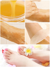 Load image into Gallery viewer, Honey Milk Foot Wax Feet Mask Moisturizing Hydrating Nourishing Whitening Skin Care Peel Off Foot Skin Care Exfoliating Anti-dry - My Little Decors.com