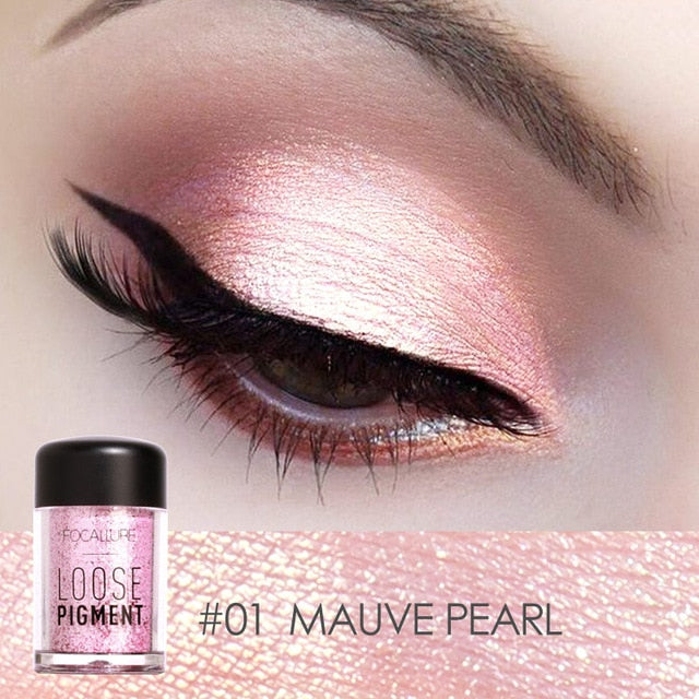 FOCALLURE Glitter Eye Shadow 18 Colors Cosmetic Makeup Diamond Lips Loose Makeup Eyes Pigment Powder Comestic Single Eye Shadow - My Little Decors.com