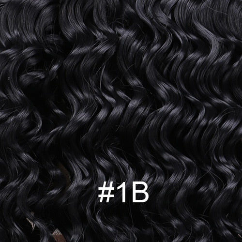 2 pieces/lot Deep Wave Synthetic Hair extensions Color Dark grey fiber Weave hair for woman - My Little Decors.com