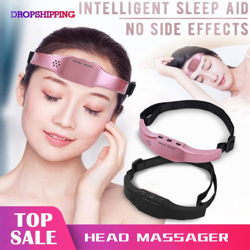 Electric Head Massager Sleep Monitor Migraine Relief Massager Insomnia Therapy Release Stress Sleep Therapy Device Sleeping Di - My Little Decors.com