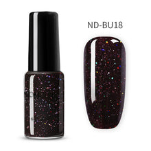 Load image into Gallery viewer, NICOLE DIARY 6ml Holo Glitter Sequins Nail Polish Sparkling Glitter Laser Nail Art Varnish Holo Effect Nail Decoration - My Little Decors.com