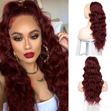 Load image into Gallery viewer, Vigorous Body Wavy Ponytail Hair Extension Clip for Women Synthetic Black Brown Drawstring Ponytail Afro Pony Tail Fake Hair - My Little Decors.com