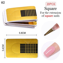 Load image into Gallery viewer, 10/20/50/100/500Pcs French Nail Form Tips For Soak Off UV Gel Quick Extension Nail Gel Gold Professional Nail Art Design Tools - My Little Decors.com