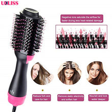 Load image into Gallery viewer, One Step Hair Dryer & Volumizer Negative Ion Straightening Brush Salon Hot Air Paddle Styling Reduce Frizz And Static Styling - My Little Decors.com