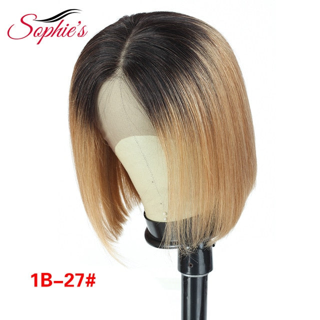 Sophie's Lace Front Human Hair Wigs For Black Women Brazilian Straight Lace Front Wig 13*4 Bob Lace Front Wigs Pre Plucked Remy - My Little Decors.com