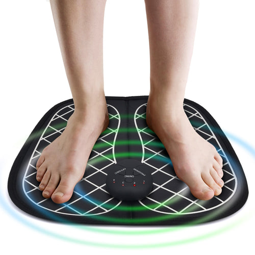 ABS Physiotherapy Electric EMS Foot Massager Revitalizing Pedicure Tens Foot Vibrator Wireless Feet Muscle Stimulator Unisex - My Little Decors.com
