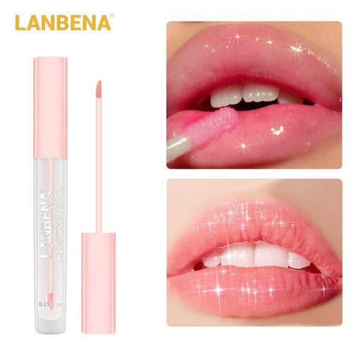 LANBENA Lip Serum Lip Plumper Lightening Liquid Lip Gloss Reduce Pigmentation Moisturizing Pink Lips Long Lasting Smooth Beauty - My Little Decors.com