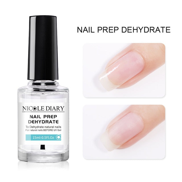 Nail Prep Dehydrator Acid Free Fit Nail-Primer for Acrylic Nails Bonder Bond 15ml Manicure Tool Care Coat Gel varnish - My Little Decors.com