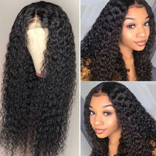 Load image into Gallery viewer, RXY Deep Wave Wig Lace Front Human Hair Wigs For Women 13x6 Lace Wig Remy Curly Human Hair Wig Pre Plucked With Baby Hair - My Little Decors.com