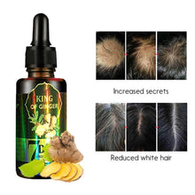 Load image into Gallery viewer, 30ml Ginger Hair Growth Nutrient Solution Hair Loss Treatment Hair Protection Essential Oil for Men Women - My Little Decors.com