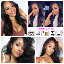 Load image into Gallery viewer, Body Wave Lace Front Wig 13x4 Lace Frontal Human Hair Wig Remy Pre Plucked With Baby Hair 13x4 Lace Closure Wigs For Black Women - My Little Decors.com