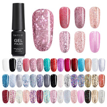 Load image into Gallery viewer, LILYCUTE 7ml UV Gel Nail Polish Glitter Pink Color Series Soak Off Nail Art Gel Polish Varnish Design - My Little Decors.com